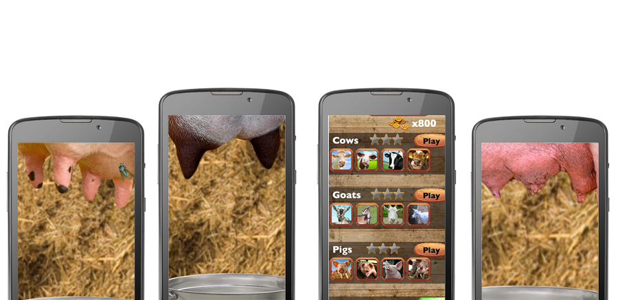 Milk it app screenshots